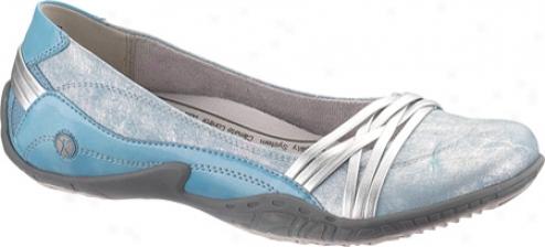 Hush Puppies Esteem (women's) - Silver Leather/turquoise Patent