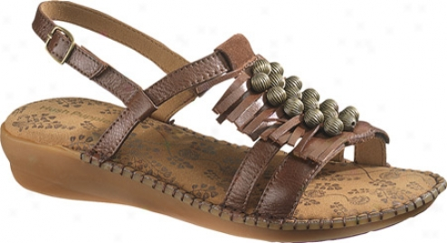 Hush Puppies Laze Sling (women's) - Brown Leather