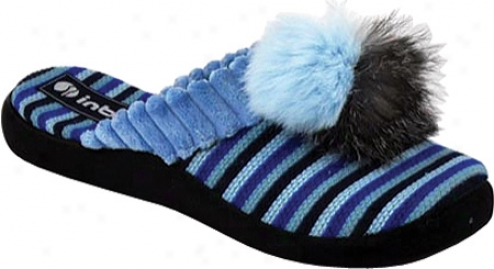 Inblu Cozy oPm Pom Stripe (women's) - Blue Stripe