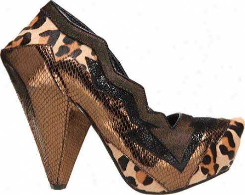 Irregular Choice Amazonianic (womn's) - Bronze Leopard Leather