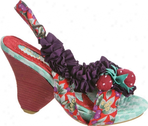 Irregular Choice Raspberry Ripples (women's) - Grey/purple Fabric