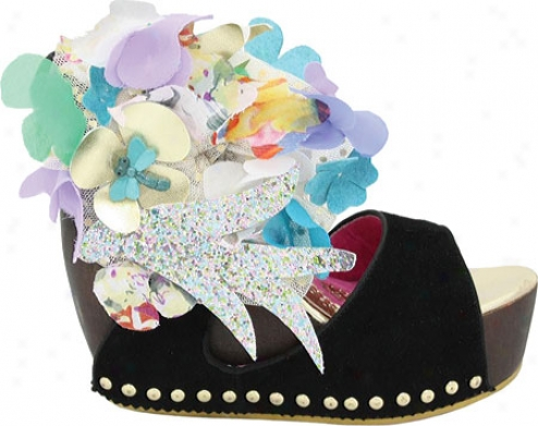 Irregular Choice Susie Spruce (women's) - Black Suede/fabric