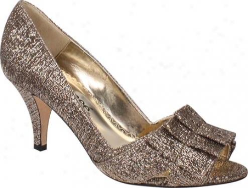 J. Renee Cicily (women's) - Platinum Gold Metallic Fabric