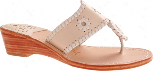 Jack Rogers Palm Beach Navajo Midwedge (women's) - Bone/ Happy