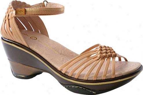 Jambu Paprika (women's) - Nude Gold Satin/vintage Leather