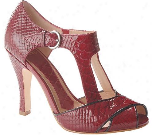 Joan & David Lana (women's) - Medium Red/black Reptile