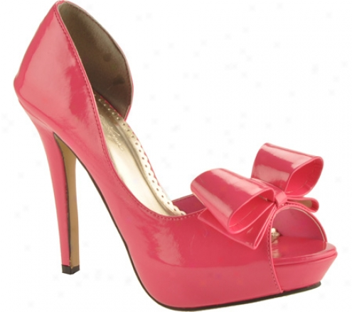 Johnathan Kayne Bow (women's) - Hot Pink Patent