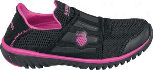 K-swiss Blade Lihtrecover (women's) - Black/neon Pink