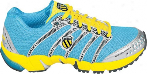 K-swiss K Ona R (women's) - Neon Blue/silver/bright Yellow