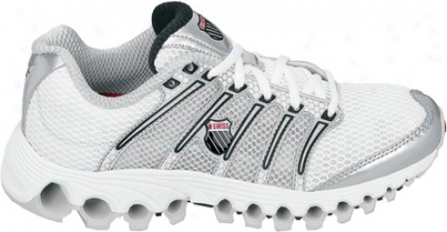 K-swiss Tubes Run 100 A (women's) - White/silver/black/true Red