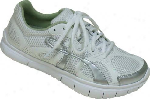 Kalso Earth Shoe Glide Vegan (women's) - Silver/white Microfiber