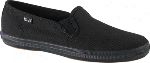 Keds Champion Slip Forward (women's) - Black Canvas