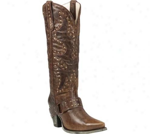 Lane Boots Stud Rocker (women's) - Brown Leather