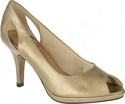 Life Stride Vera (women's) - Liight Gold Open Grainy Pu