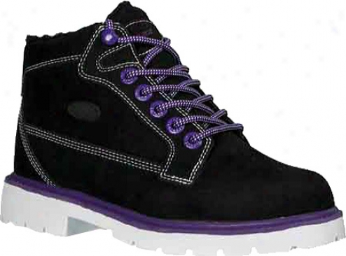Lugz Brigade Fleece (women's) - Black/pitch Purple/white Leather