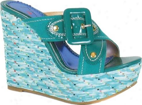 Luichiny Amil Ya (women's) - Turquoise Imisuede/imi Patent