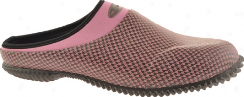 Muck Boots Daily Laqn & Gardening Clog Dlc-403h (women's) - Dusty Pink Houndstooth