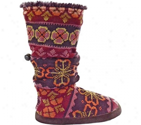 Muj Luks Fur Lined Fairisle Toggle Boot (women's) - Tapestry