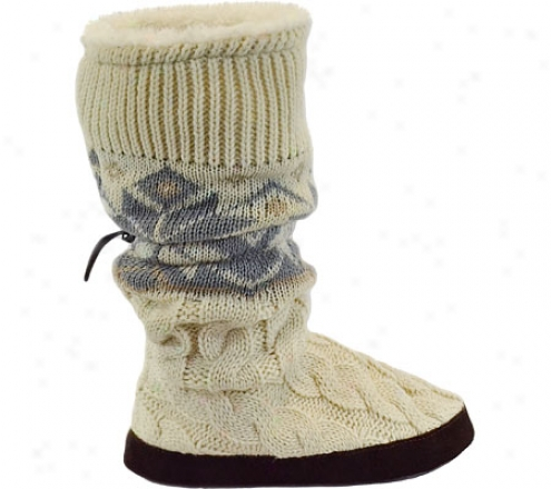 Muk Luks Fur Lined Snowflake Cable Toggle Boot (women's) - Winter Happy