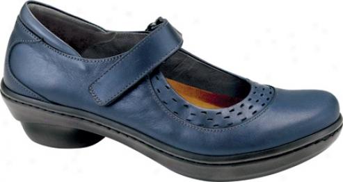 Naot Blue Jay (women's) - Polar Sea Leather/navy Patent Leather