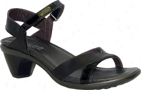 Naot Cheer (women's) - Jet Black Leather/black Patent Leather