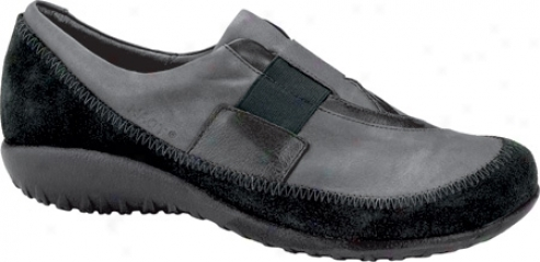 Naot Otago (women's) - Shadow Grey Nubuck/black Suedr/metallic Road