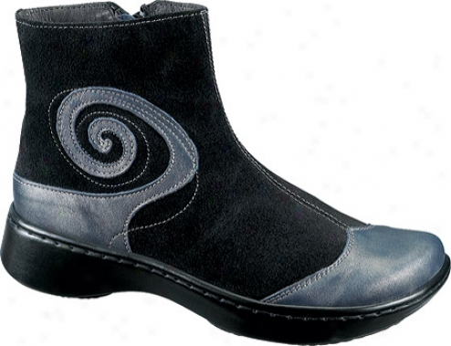 Naot Oyster (wmen's) - Steel Leather/black Suede