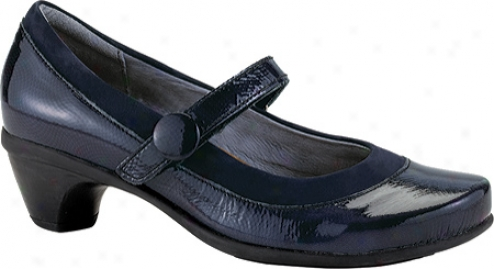 Naot Trendy (women's) - Navy Open Leather/navy Nubuck