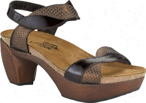 Naot Union (women'a) - Brown Lizard Leather/espresso Leather