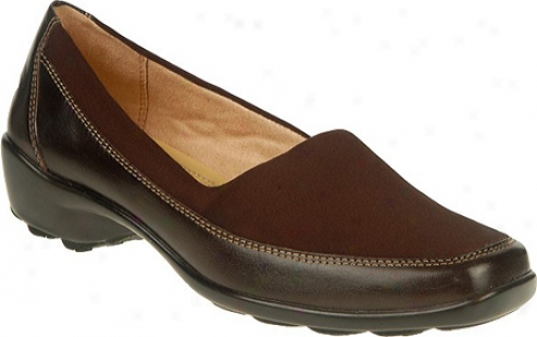 Naturalizer Justify (women's) - Oxford Brown Leather/stretch Texture