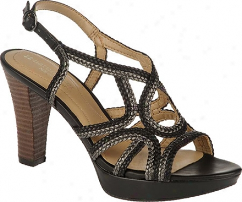 Naturalizer Kalissa (women's) - Black/gunmetal Braided Polyurethane