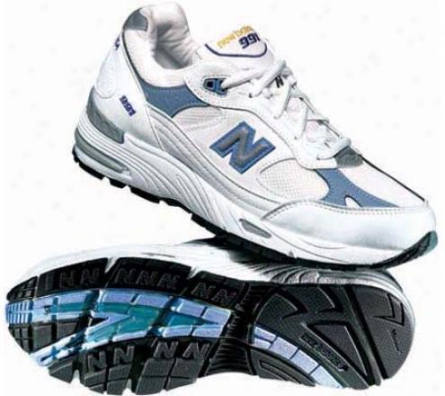 New Balance W991 (women's) - White/blue