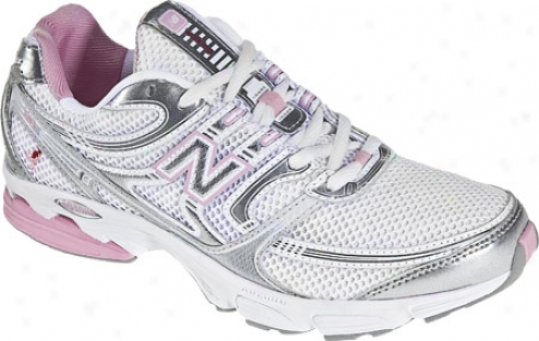 New Balance Ww615 (women's) - White/pink/silver