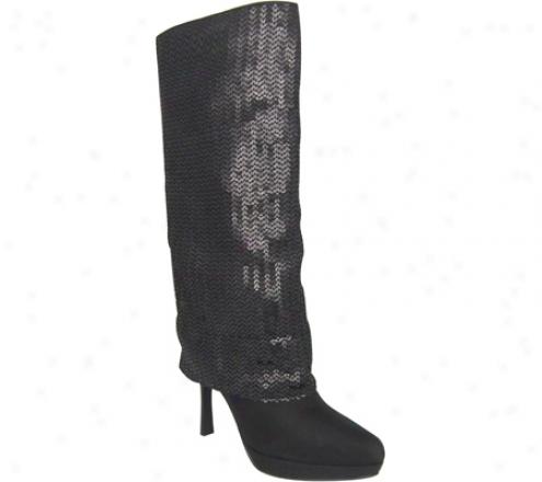 Nina Nakona (womens) - Black Matte Sequin/black Peau