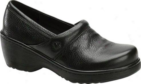 Nurse Mates Callie (women's) - Black Tumbled Leather