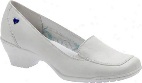 Nurse Mates Jasmin (women's) - White Full Grain Leather