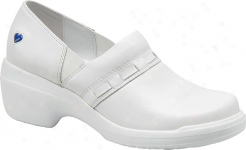 Nurse Mates Nelly (women's) - White Full Grain Leather
