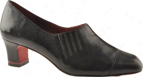 Oh! Shoes Maxine (women's) - Black Antiqued Kid