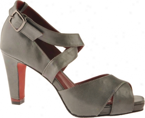 Oh! Shoes Plato (women's) - Gunmetal Antiqued Kid