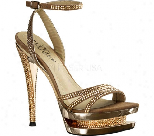 Pleaser Day & Night Fascinate 637dm (women's) - Rose Gold Suede/rose Gold Chrome
