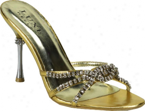 Pleaser Jewel 02 (women's) - Gold Metallic Pu
