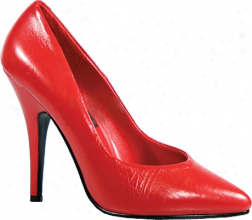 Pleaser Seduce 420 (women's) - Red Leather
