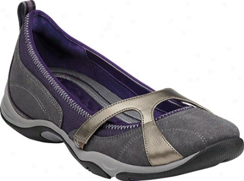 Privo Ardea (women's) - Dark Grey/deep Viplet Nubuck