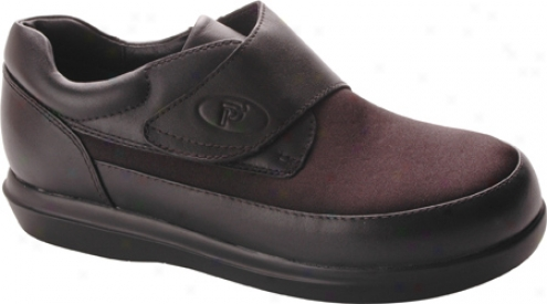 Propet Ped Walker 5 (womens') - Black Unruffled Leather/nylln