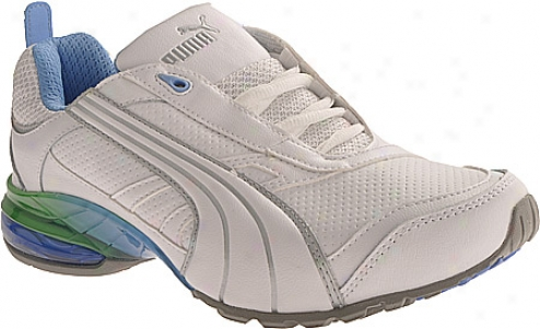 Puma Cell Inertia (women's) - White/metallic Silver/team Pea