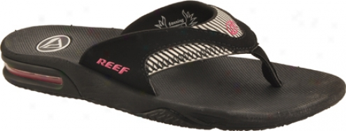 Reef Fanning Original (women's) - Black/pink Stripes