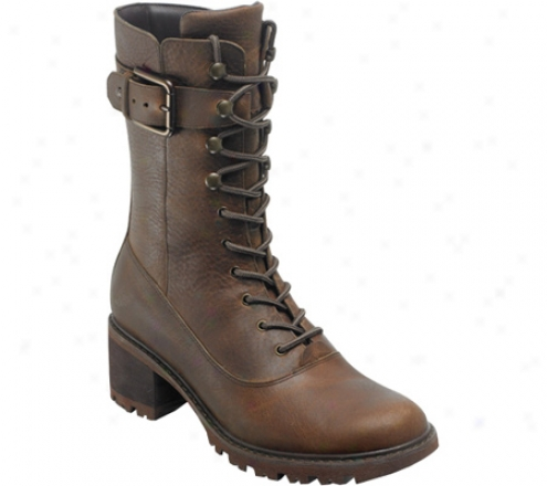 Rockport Anna Boot Lace Up (women's) - Luggage Abundant Grain Leather