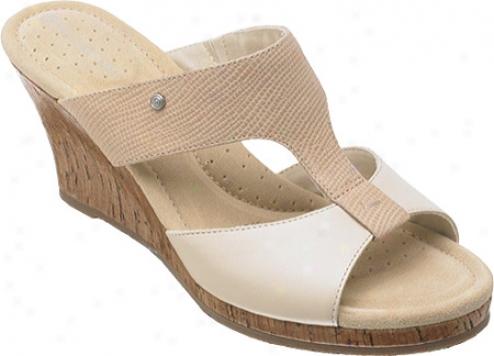 Rockport Emily New Slide (women's) - Sand Full Grain Leather