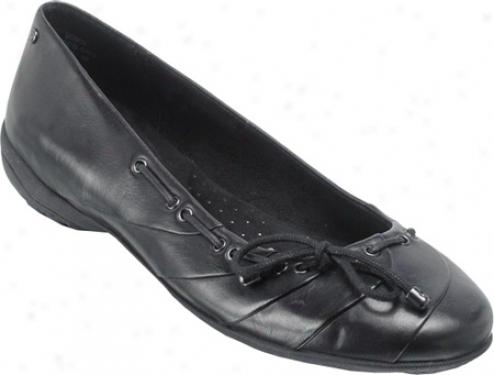 Rockport Laura Ballerina Bow (women's) - Black Full Fibre Leather