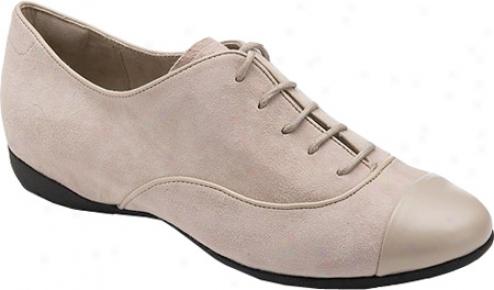Rockport Trulisa Lace Up Ballet (women's) - Cobblestone Grey Suede